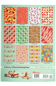 bacon wrapping paper meat parade wrapping paper book sourpuss clothing