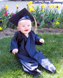how to make a baby graduation cap and gown latterday