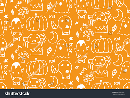 halloween lettering templates seamless halloween pattern card banner poster stock vector