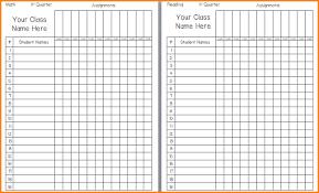 Grade Book Template Excel 4 Printable Gradebook Template Writable Calendar