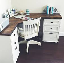 Corner Desk Ideas Grace Farmhouse Corner Desk By Magnoliasandhardware On Etsy