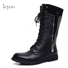 buy black knee boots men and get free shipping on aliexpress com