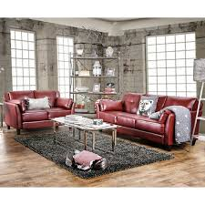Sofa And Loveseats Sets Furniture Of America Pierson 2 Piece Double Stitched Leatherette