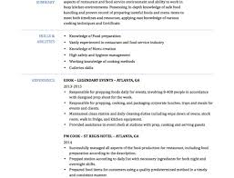 resume kitchen resume skills awesome cooking resume 89 exciting