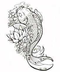 koi fish outline designs no outline style tats