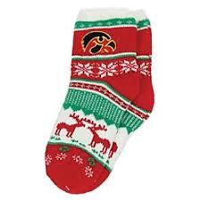 fuzzy christmas socks hawkeye fuzzy christmas socks