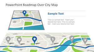 Navigation Map Roadmap City Map Powerpoint Theme Slidemodel