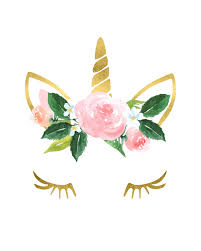 gold unicorn flower crown nursery girls room printable wall art