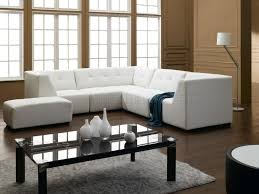 Living Room Sofa Designs Modern White Bonded Sectional Sofa For Small Space Furniture