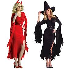 Carnival Halloween Costumes Shop Cute Unicorn Black Witch Red Devil Cosplay Costume