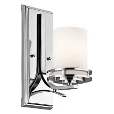 kichler 5076ch one light wall sconce amazon com