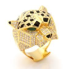 rings king images 14k 3d gold leopard ring men 39 s rings king ice kingice jpeg