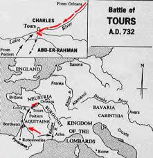 map of poitiers map of battle this day in history oct 10 732 battle of tours