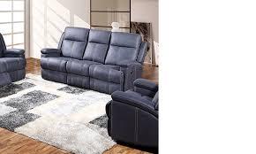 canapé 3 places relax electrique canape bleu relax électrique en tissu hcommehome