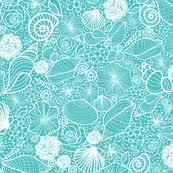 sea shells fabric wallpaper u0026 gift wrap spoonflower