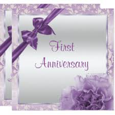 1st wedding anniversary cards invitations zazzle co uk
