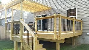 deck railing spindles wood of ideascheap aluminum decking ideas