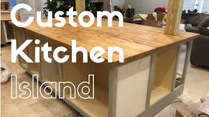 kitchen island custom custom kitchen island build youtube