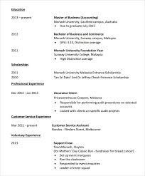 Monash Resume Sample by Sample Accounting Resume 6 Documents In Pdf