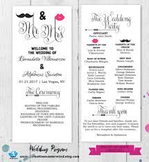 ceremony program template diy wedding program template printable editable template