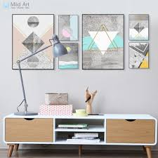 abstract geometric texture shape large canvas art poster print