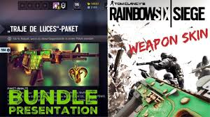 siege de traje de luces weapon skin unboxing and presentation rainbow