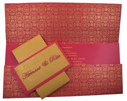 design multifaith wedding invitation card in pink