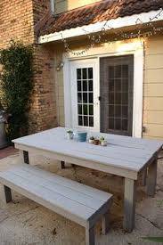 Farmhouse Patio Table by 11 Diy Outdoor Table And Bench Design Diy Outdoor Table Bench
