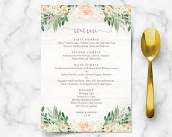 brunch wedding menu wedding brunch etsy