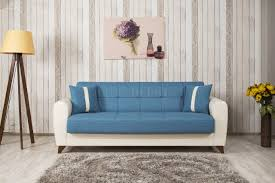 Sofa Come Bed Furniture Vista Sofa Bed In Blue Fabric By Casamode W Options