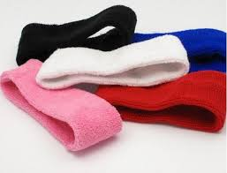 headbands sports unisex solid twist stretch elastic sports cotton headbands