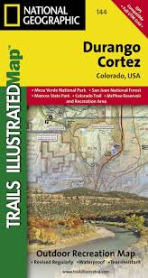 Cortez Colorado Map by National Geographic Trails Illustrated Map Durango Cortez