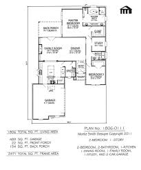 plan no 1806 0111 2 bedroom 1 story house plan