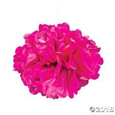 pink tissue paper tissue paper pom pom decorations