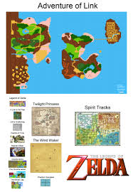 Wind Waker Map Zelda Maps To Scale 2 0 Now With All The Lands 56k Be Warned