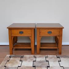 Oak End Tables Thomasville Impressions Mission Style Oak End Tables Ebth