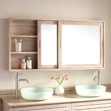 Mirror Wall In Bathroom Brilliant Adorable Solid Wood Bathroom Mirror Cabinet Ideas