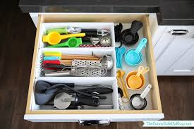 how to organise kitchen utensils drawer organized kitchen utensil drawer the side up