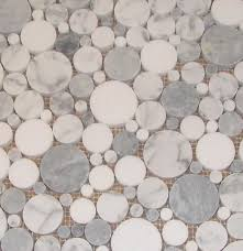 Glass Tile Bathroom by Round Glass Tiles Bubbles Marble And Grey Smoke With Thassos