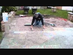 Flagstone Patio On Concrete by How I Install A Stone Patio On Gravel Part 1 Of 2 Mike Haduck