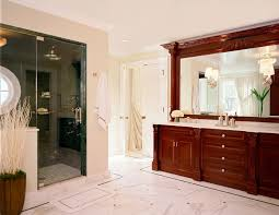 minimalist white and brown door design to bathroom that can be
