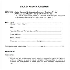 business agency agreement example of sales agency agreement