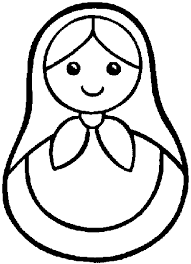 russian doll coloring page auf printablecolouringpages co uk