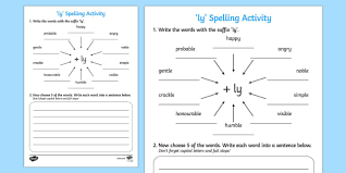 prefixes and suffixes primary resources ks1 words page 1