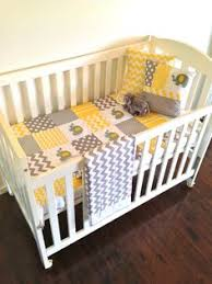 Grey And Yellow Crib Bedding Furniture Gray And Yellow Zig Zag Crib Bedding Medium