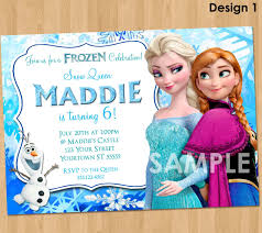 Design For Birthday Invitation Card Frozen Party Invitations Kawaiitheo Com