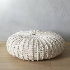 white knit pouf within elegant oversized pouf ottoman ideas