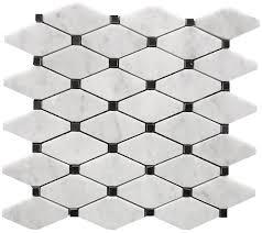 10 95 carrara venato polished stella long octagon marble mosaic tile