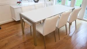 dining table extendable 4 to 8 casa matt white extending dining table 6 brushed metal legs seats 8