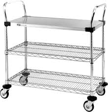 Metro Wire Shelving by Labrepco Combination Wire And Stainless Carts